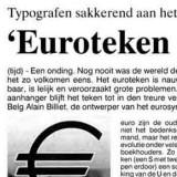 Euroteken is voor 40,3399 frank lelijkheid