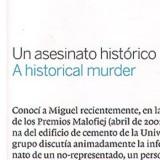 Un asesinato histórico