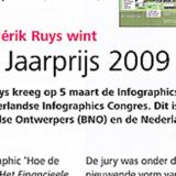 Publish-redacteur Frédérik Ruys wint Infographics Jaarprijs 2009